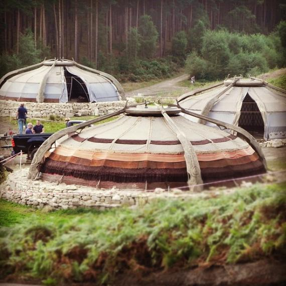 Set de rodaje de Thor: The Dark World (2013) en Bourne Wood, Inglaterra
