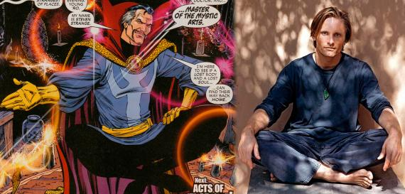 ¿Viggo Mortensen como Doctor Strange en Thor: The Dark World (2013)?