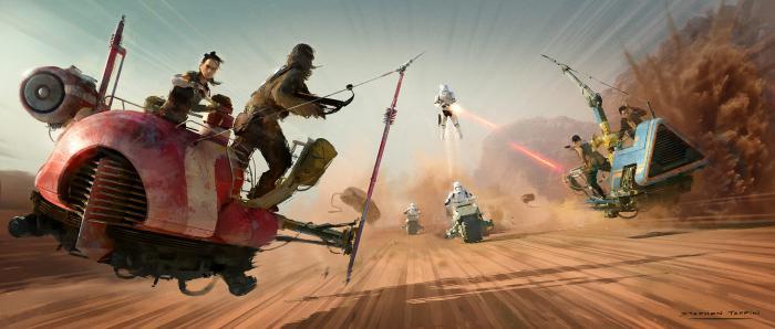Arte conceptual de Star Wars: El ascenso de Skywalker (2019), por Stephen Tappin