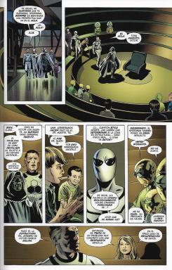 Marvel Saga. Los 4 Fantásticos de Jonathan Hickman, núm. 4: La guerra de las cinco ciudades. Página de muestra.