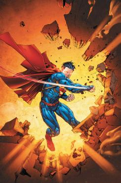 Portada del cómic Superman #13 (octubre 2012), portada por Kenneth Rocafort