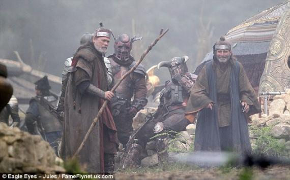 Rodaje de Thor: The Dark World (2013) en Bourne Wood, Inglaterra