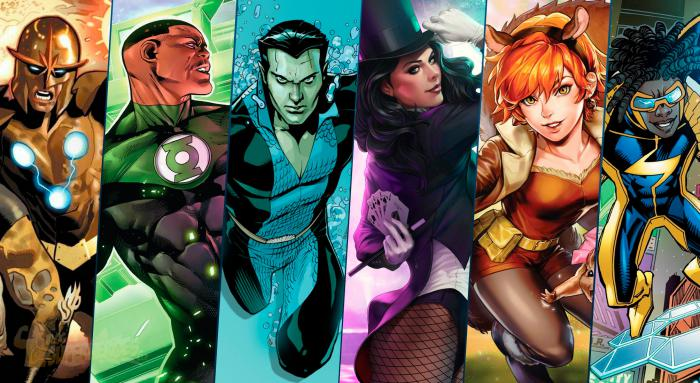 Nova, John Stewart, Namor, Zatanna, Squirrel Girl y Static Shock