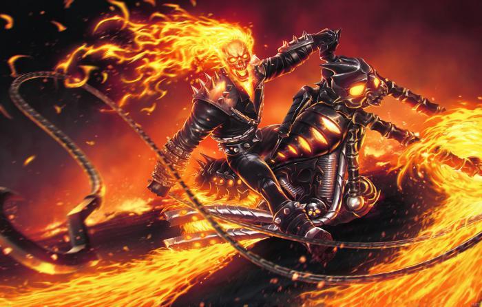 Imagen de Ghost Rider en los cómics