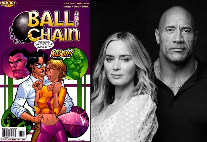 Ball and Chain, y Dwayne Johnson y Emily Blunt