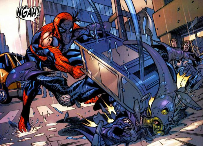 Spidey vs. Duende en los cómics Marvel Knights: Spider-Man