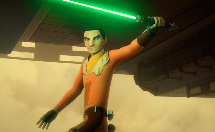 Imagen de Ezra Bridger en la temporada 4 de Star Wars Rebels