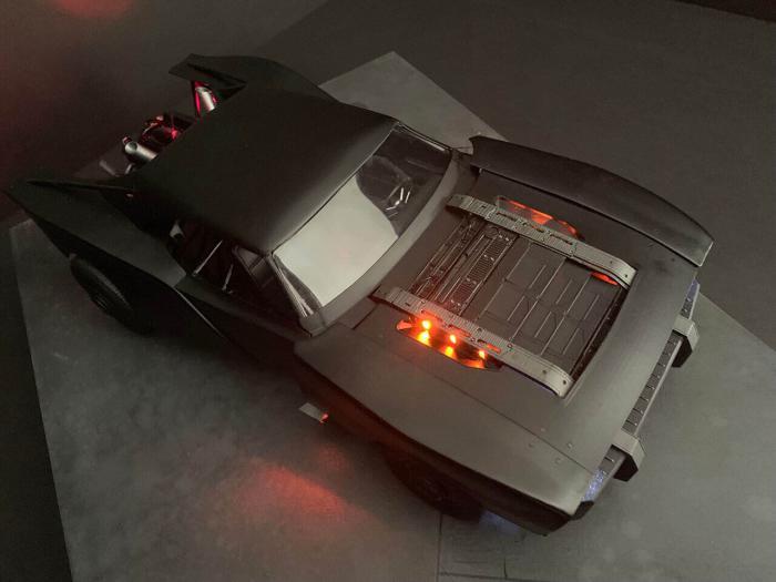 Prototipo a escala del batmóvil de The Batman (2021)