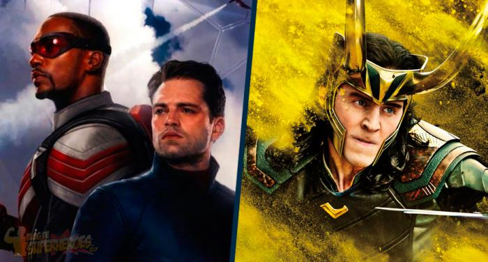 Montaje de The Falcon and the Winter Soldier y Loki
