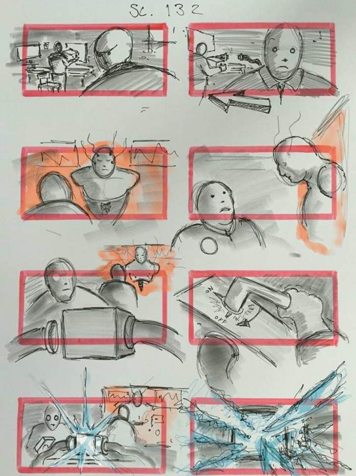 JUSTICE LEAGUE-STORY BOARD-CYBORG 1