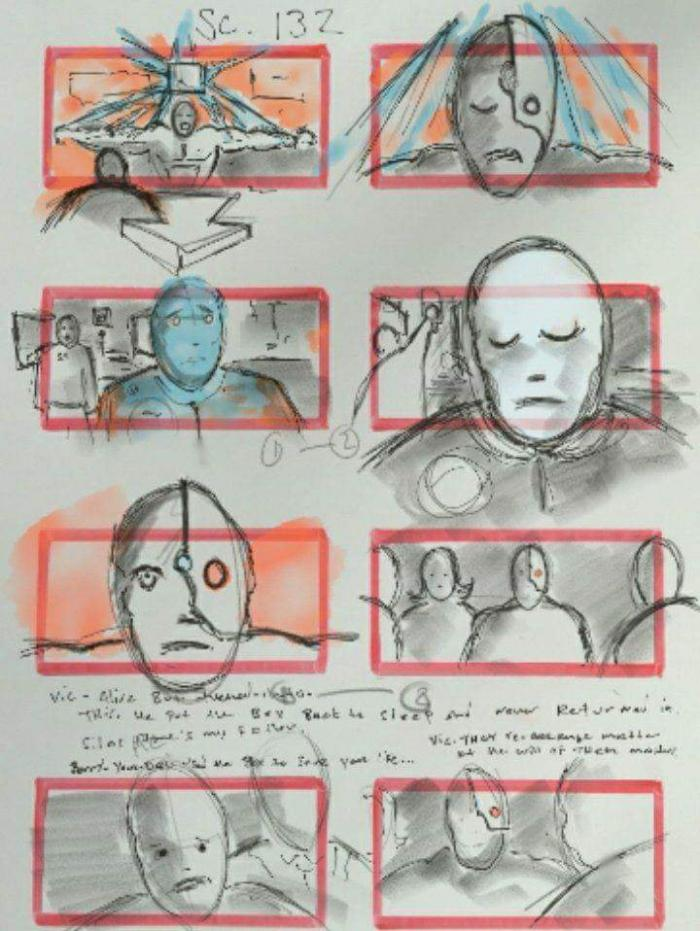 JUSTICE LEAGUE-STORYBOARD-ART CYBORG 2