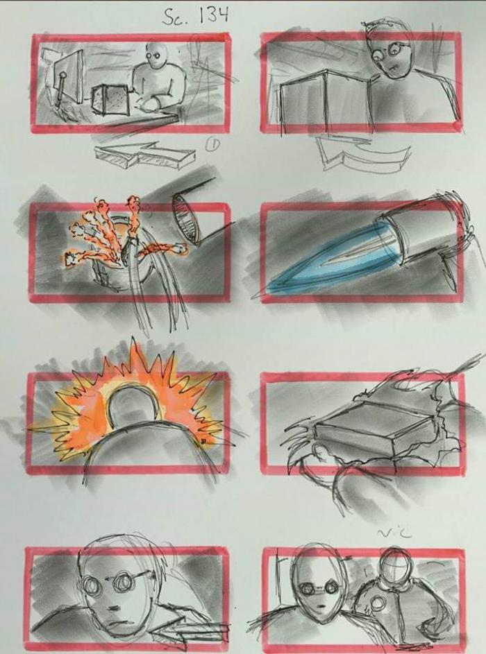 JUSTICE LEAGUE-STORYBOARD CYBORG 3