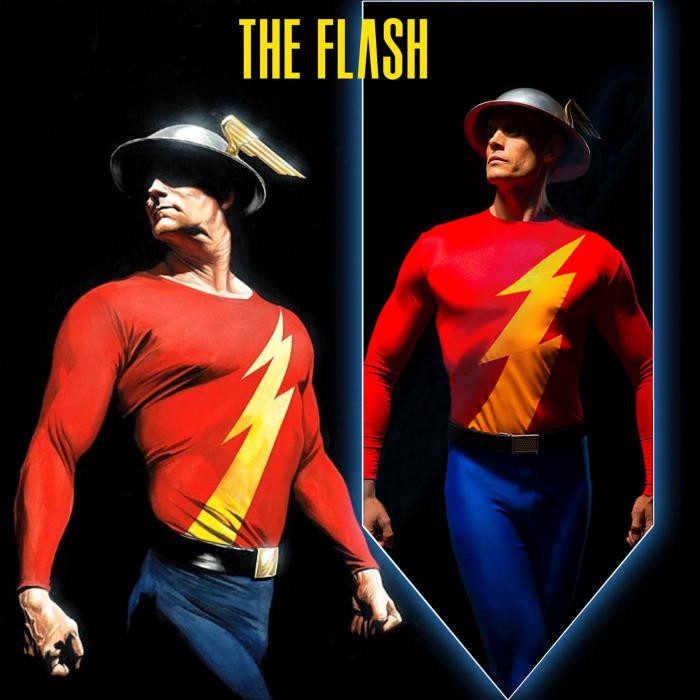 Imagen promocional de The Flash en Stargirl inspirada en arte de Alex Ross