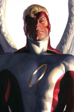 Portada alternativa del cómic Timeless dedicada a Angel, por Alex Ross