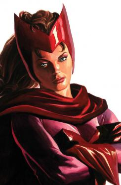 Portada alternativa del cómic Timeless dedicada a Bruja Escarlata, por Alex Ross
