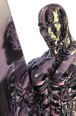 Portada alternativa del cómic Timeless dedicada a Silver Surfer, por Alex Ross