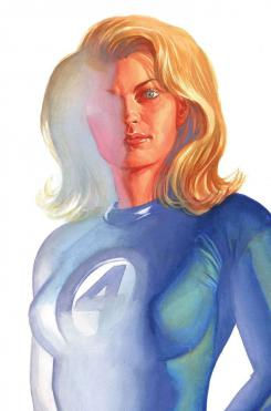 Portada alternativa del cómic Timeless dedicada a Sue Storm/Mujer Invisible, por Alex Ross