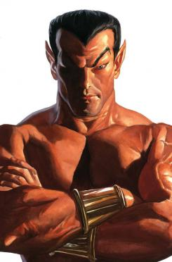 Portada alternativa del cómic Timeless dedicada a Namor, por Alex Ross