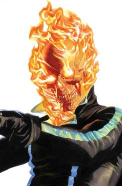 Portada alternativa del cómic Timeless dedicada a Ghost Rider, por Alex Ross