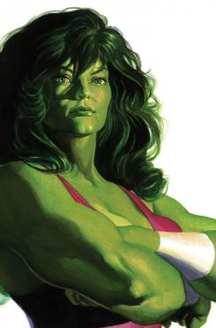 Portada alternativa del cómic Timeless dedicada a She-Hulk, por Alex Ross
