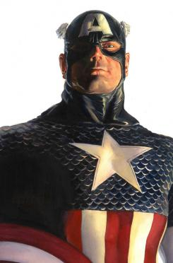 Portada alternativa del cómic Timeless dedicada a Capitán América, por Alex Ross