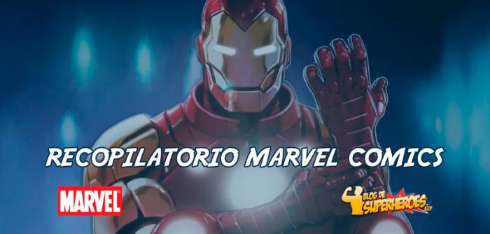 Recopilatorio Marvel Comics: nueva serie de Iron Man y retratos de personajes por Alex Ross