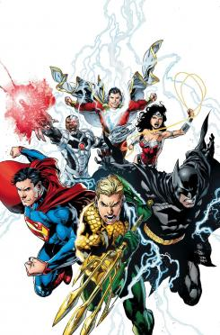 Portada alternativa del cómic Justice League #15, por Ivan Reis