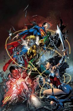 Portada  del cómic Justice League #16, por Ivan Reis