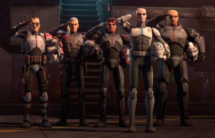 Los Bad Batch en la temporada 7 de Star Wars: The Clone Wars (2020)