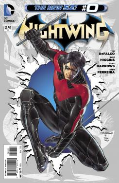 Portada del número 0 de Nightwing de The New 52 de DC Comics (2012)