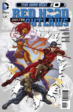 Portada del número 0 de Red Hood and the Outlaws de The New 52 de DC Comics (2012)