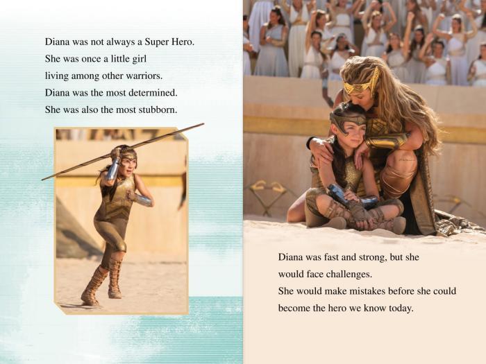 Vistazo a Wonder Woman 1984 (2020), en el libro promocional Meet Wonder Woman