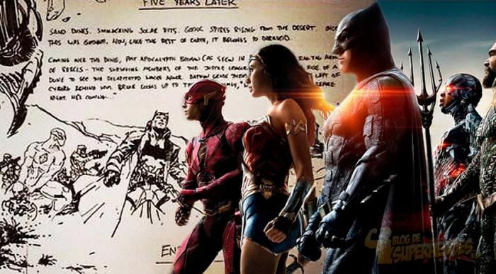 Arte conceptual de Jim Lee para el final original de Justice League Part 1