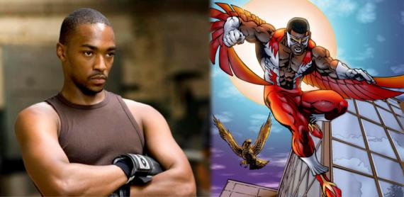 Anthony Mackie también confirma ser Halcón en Captain America: The Winter Soldier (2014)