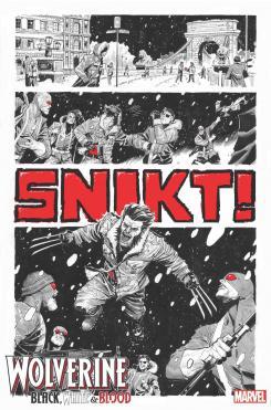 Interior del cómic Wolverine: Black, White & Blood #1, por Joshua Casssara y GURU-EFX