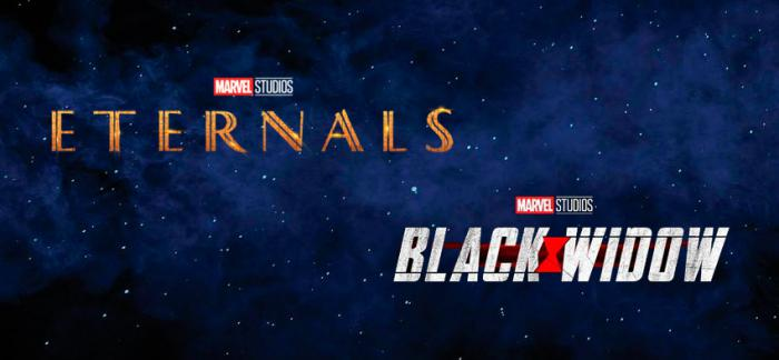 Logos de Eternals y Black Widow