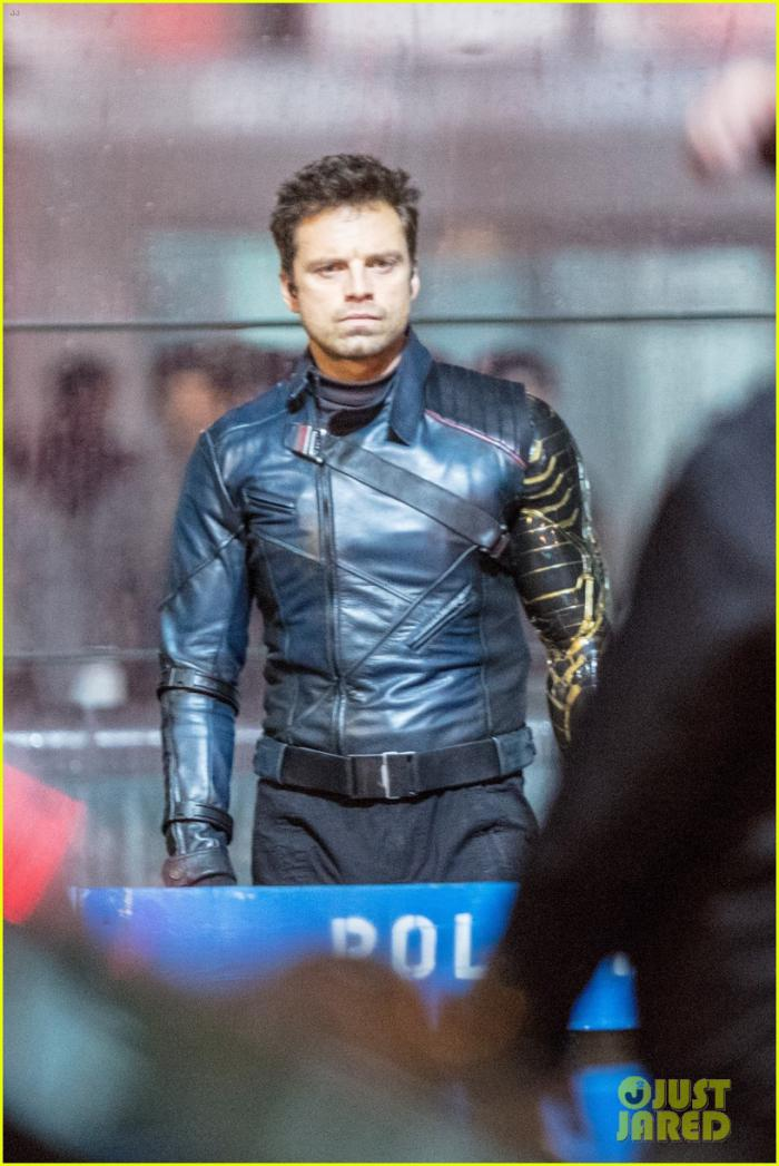 Sebastian Stan rodando The Falcon and the Winter Soldier en Atlanta, GA (25 sept. 2020)