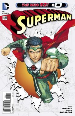 Portada del número 0 de Superman de The New 52 de DC Comics (2012)