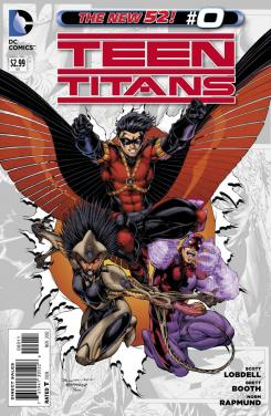 Portada del número 0 de Teen Titans de The New 52 de DC Comics (2012)