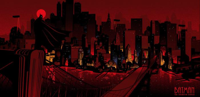 Imagen de Gotham City en la serie animada de Batman de los 90