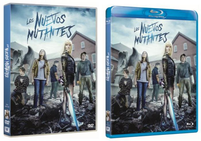 Carátulas de la edición DVD y Blu-Ray de Los Nuevos Mutantes para España