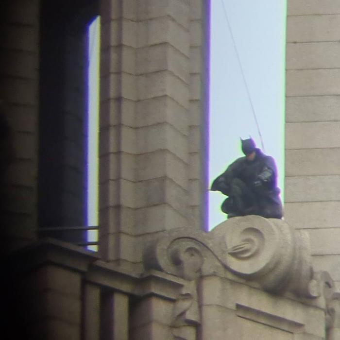 Imagen del rodaje de The Batman en Liverpool (octubre 2020)