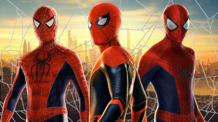 Montaje del Spider-Man en Tobey Maguire, Andrew Garfield y Tom Holland