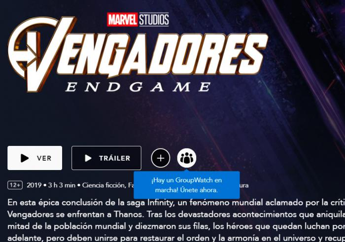 WatchGroup en Disney+