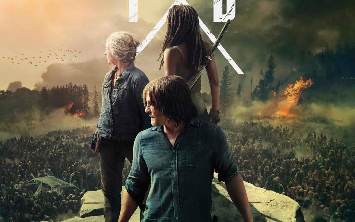 Recorte de póster promocional de la temporada 10 de The Walking Dead