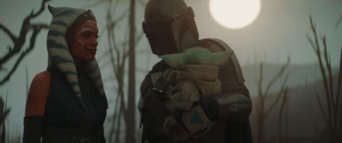 Imagen de Ahsoka Tano, Mando y Grogu en The Mandalorian 2x05: Capítulo 13 - La Jedi