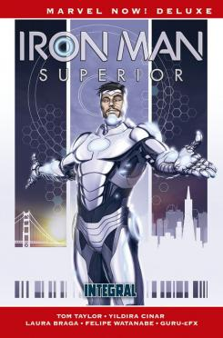 Portada de Marvel Now! Deluxe. Iron Man Superior: Integral